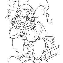 Dibujo de BUFON sentado para colorearr - Dibujos para Colorear y Pintar - Dibujos para colorear FIESTAS - Dibujos para colorear CARNAVAL - Dibujos PERSONAJES CARNAVAL para colorear