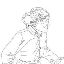Dibujo para colorear retrato de hombre dsifrazado carnaval chino - Dibujos para Colorear y Pintar - Dibujos para colorear FIESTAS - Dibujos para colorear CARNAVAL - Dibujo para colorear CARNAVAL CHINO