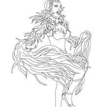 dibujo para colorear disfraz carnaval de Rio - Dibujos para Colorear y Pintar - Dibujos para colorear FIESTAS - Dibujos para colorear CARNAVAL - Dibujos para colorear CARNAVAL DE RIO