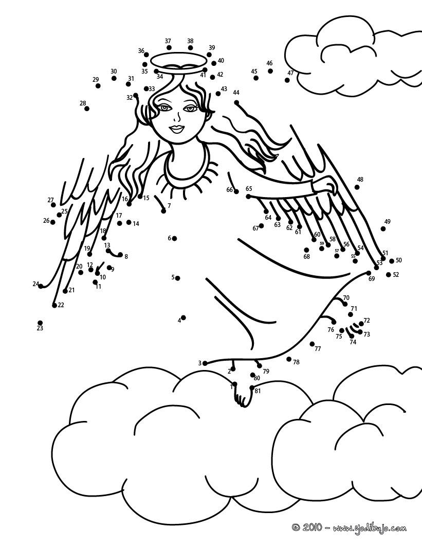 Juegos gratuitos de angel de navidad unir puntos - es.hellokids.com