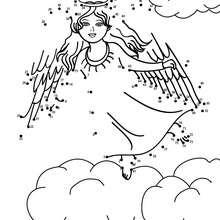 Hoja para imprimir : ANGEL DE NAVIDAD unir puntos