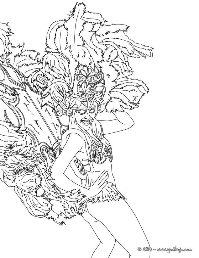 Dibujo para colorear : Traje de plumas