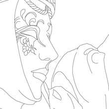 Dibujo para colorear : Careta decorada