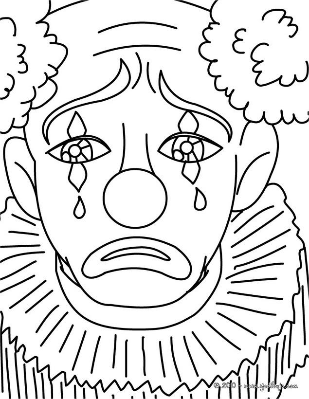 Dibujo para colorear PAYASO - 15 dibujos de payaso para pintar y ...