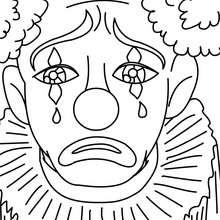 Dibujo de PAYASO llorando para colorear - Dibujos para Colorear y Pintar - Dibujos para colorear FIESTAS - Dibujos para colorear CARNAVAL - Dibujo para colorear PAYASO