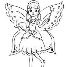 Dibujo para colorear : Vestido de Campanilla