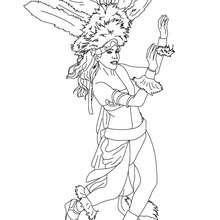 Dibujo para colorear bailarin en las calles  carnaval de Rio - Dibujos para Colorear y Pintar - Dibujos para colorear FIESTAS - Dibujos para colorear CARNAVAL - Dibujos para colorear CARNAVAL DE RIO