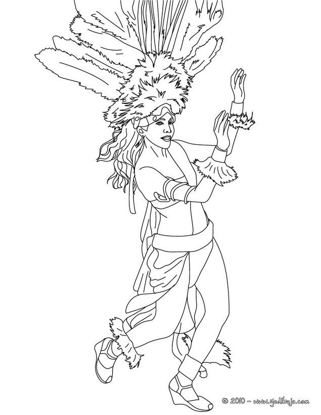 Dibujos para colorear bailarina de samba carnaval de rio  es