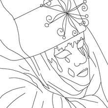 Dibujo para colorear mascara de carnaval de Venecia - Dibujos para Colorear y Pintar - Dibujos para colorear FIESTAS - Dibujos para colorear CARNAVAL - Dibujos CARNAVAL VENECIA para colorear
