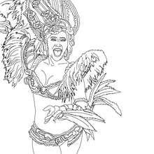 Dibujo para colorear carioca carnaval de rio - Dibujos para Colorear y Pintar - Dibujos para colorear FIESTAS - Dibujos para colorear CARNAVAL - Dibujos para colorear CARNAVAL DE RIO