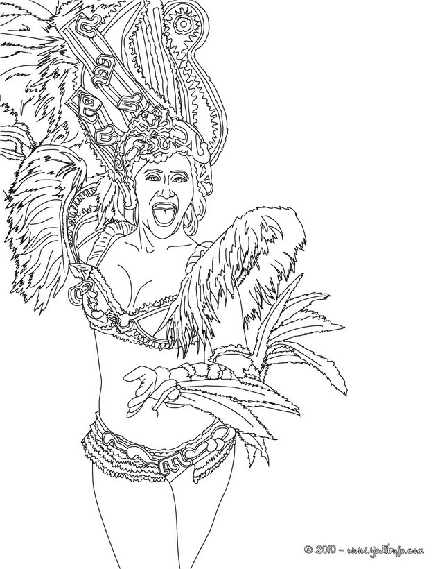 Dibujos para colorear baile carioca  eshellokidscom