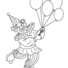 Dibujo para colorear PAYASO con globos - Dibujos para Colorear y Pintar - Dibujos para colorear FIESTAS - Dibujos para colorear CARNAVAL - Dibujo para colorear PAYASO