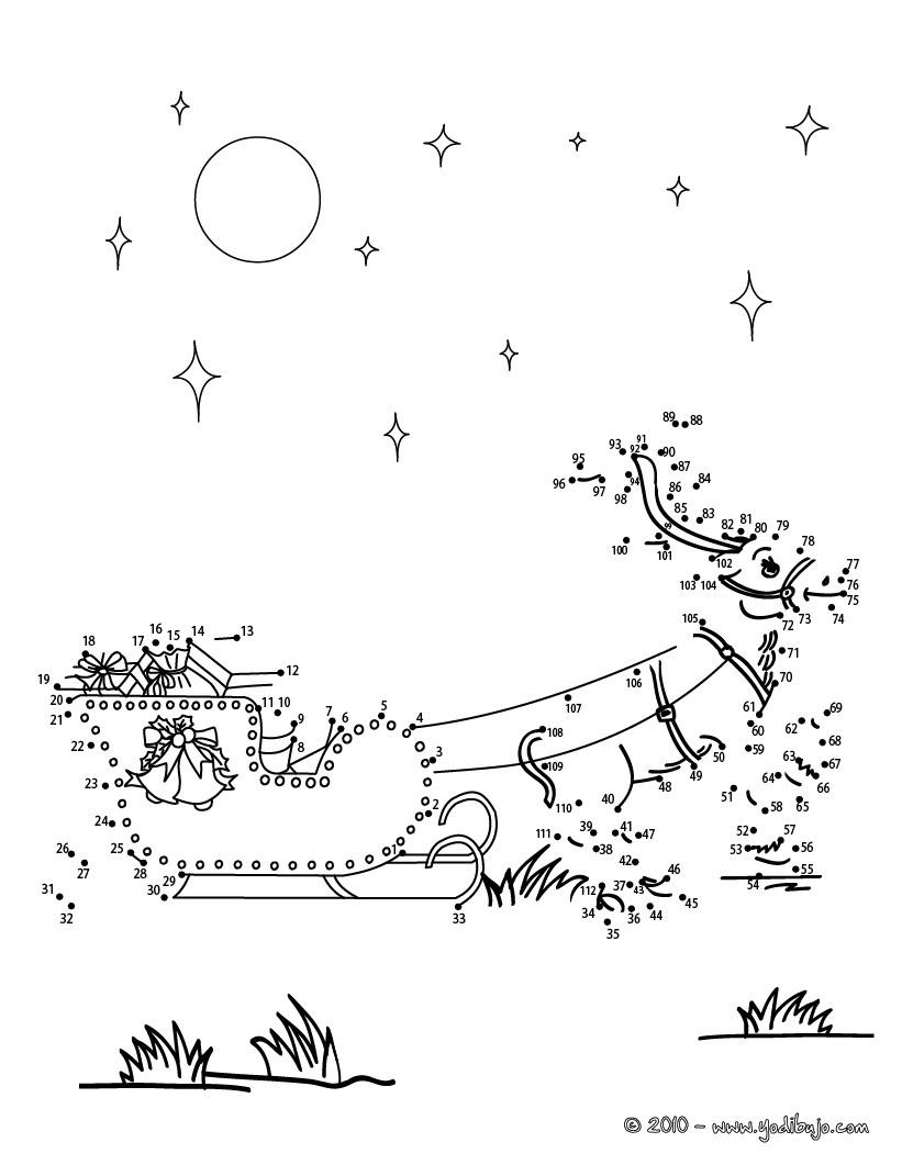 Juegos de unir puntos NAVIDAD - 21 juegos imprimibles para Navidad