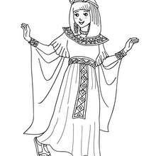 Dibujo para colorear : Vestido de Cleopatra