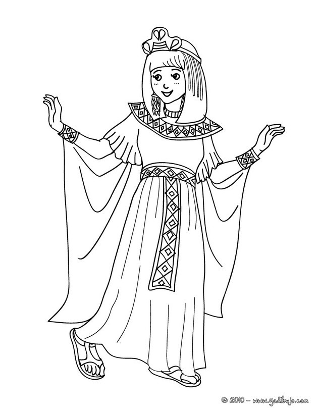 Dibujos para colorear vestido de cleopatra - es.hellokids.com