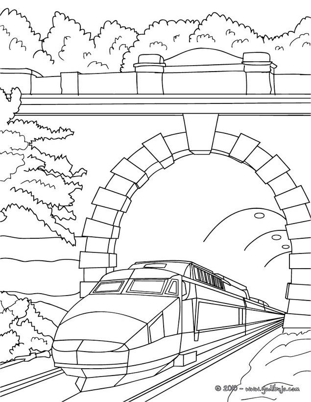 Dibujos para colorear locomotora del ave - es.hellokids.com