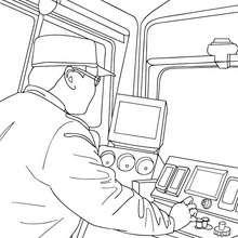 Dibujo para colorear : CONDUCTOR DE TREN electrico