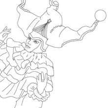 Dibujo para colorear : Tricornio y Disfraz