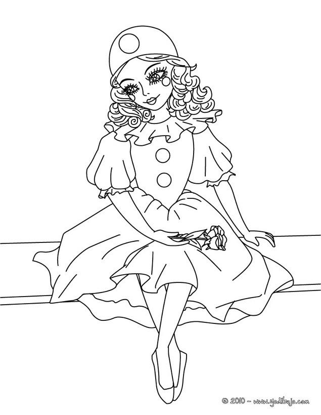 Dibujos para colorear disfraz de colombina - Coloriage pierrot ...