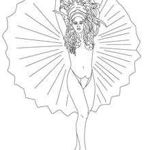 Dibujo para colorear reina del carnaval de Rio - Dibujos para Colorear y Pintar - Dibujos para colorear FIESTAS - Dibujos para colorear CARNAVAL - Dibujos para colorear CARNAVAL DE RIO