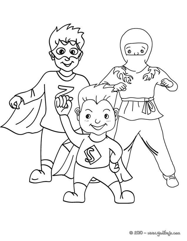 Dibujos para colorear ninja y superhéroes - es.hellokids.com