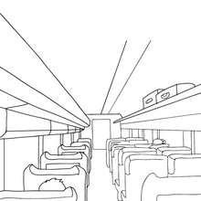 Dibujo para colorear : interior del TREN