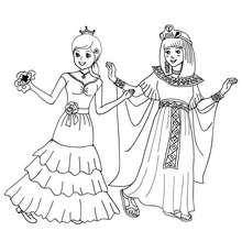 Princesa española y Cleopatra