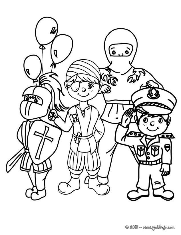 Dibujos de DISFRACES para colorear   39 laminas de Carnaval para niños