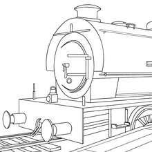 Dibujo para colorear : VAGON DE TREN de vapor