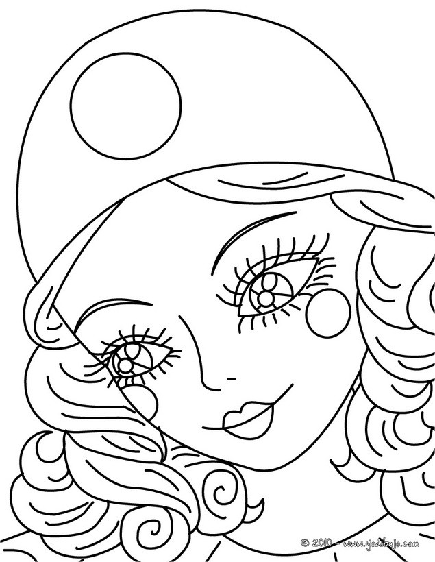 Dibujos para colorear retrato de colombina - es.hellokids.com