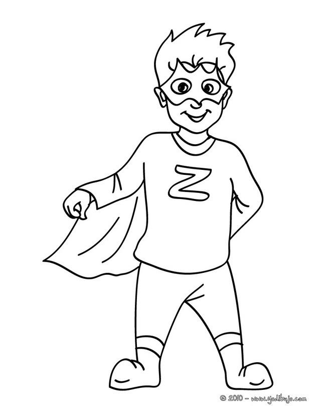 Dibujos para colorear vestido de superhéroe - es.hellokids.com