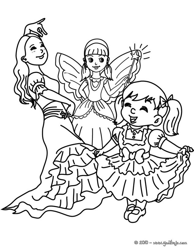 Dibujos para colorear flamenquera hada e infanta es - Carnaval coloriage ...