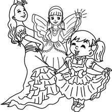 Dibujo para colorear : Flamenquera, Hada e Infanta