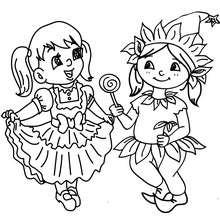 Dibujo para colorear fiesta de carnaval con disfraces - Dibujos para Colorear y Pintar - Dibujos para colorear FIESTAS - Dibujos para colorear CARNAVAL - Dibujos DISFRACES CARNAVAL para colorear - Dibujos FIESTA DISFRAZADA para colorear