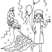 Dibujo para colorear fiesta de carnaval con confetis - Dibujos para Colorear y Pintar - Dibujos para colorear FIESTAS - Dibujos para colorear CARNAVAL - Dibujos DISFRACES CARNAVAL para colorear - Dibujos FIESTA DISFRAZADA para colorear
