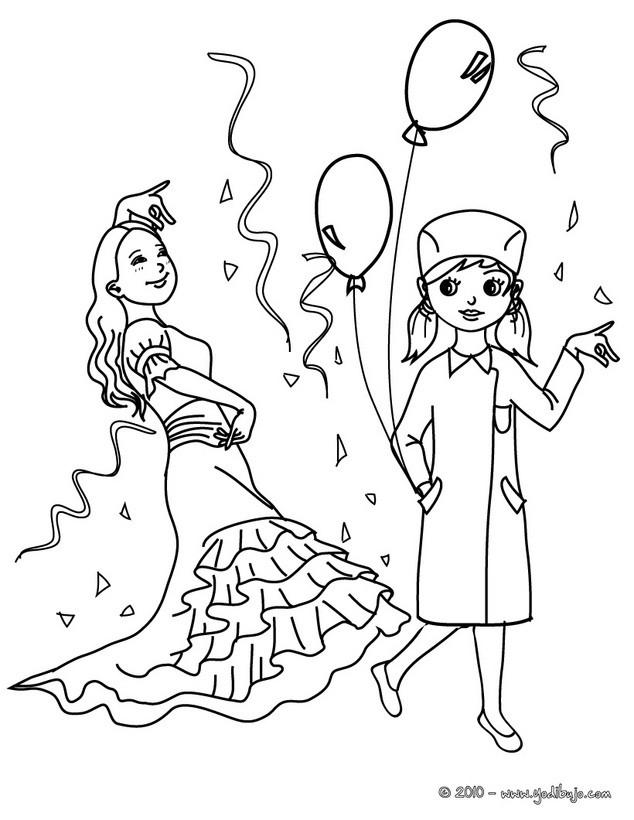Dibujos para colorear hadas y princesas - es.hellokids.com
