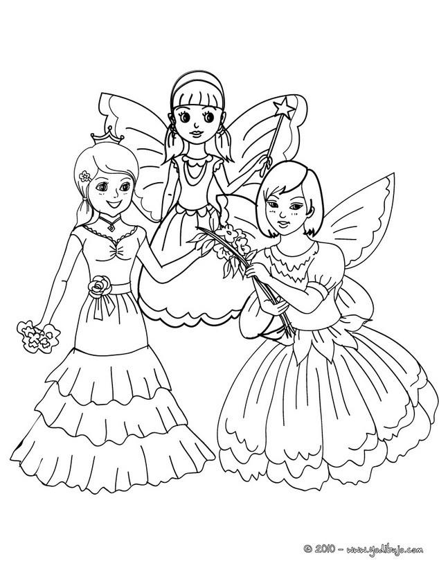 Dibujos para colorear hadas y princesas  eshellokidscom