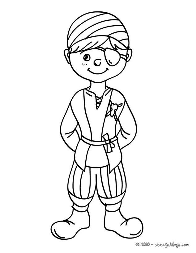 Worksheet. Dibujos para colorear vestido de pirata  eshellokidscom