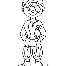 Dibujo para colorear : Vestido de Pirata