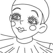 Dibujo para colorear retrato de POLOCHINELA - Dibujos para Colorear y Pintar - Dibujos para colorear FIESTAS - Dibujos para colorear CARNAVAL - Dibujos PERSONAJES CARNAVAL para colorear