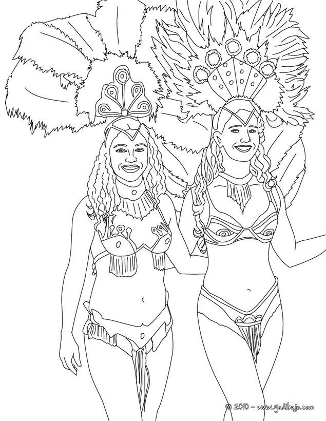 Dibujo Para Colorear   Escuela De Samba