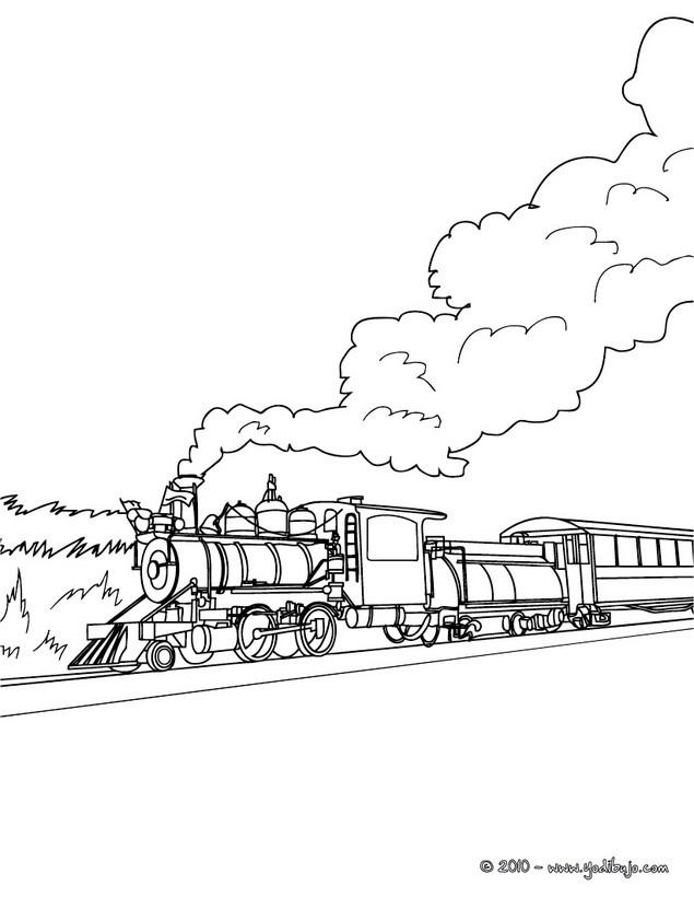 Dibujo para colorear VAGON DE TREN de vapor Dibujo para colorear TREN ...
