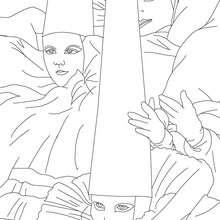 Dibujo para colorear desfile de carnaval de Venecia - Dibujos para Colorear y Pintar - Dibujos para colorear FIESTAS - Dibujos para colorear CARNAVAL - Dibujos CARNAVAL VENECIA para colorear