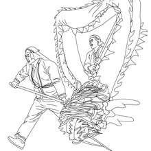 Dibujo para colorear altar desfile carnaval chino - Dibujos para Colorear y Pintar - Dibujos para colorear FIESTAS - Dibujos para colorear CARNAVAL - Dibujo para colorear CARNAVAL CHINO