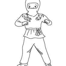 Dibujo para colorear : Vestido de Ninja