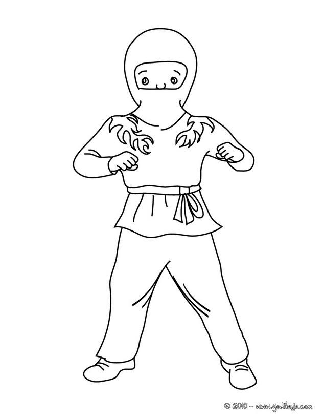 Dibujos para colorear vestido de ninja - es.hellokids.com