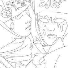 Dibujo para colorear : Caretas tradicionales
