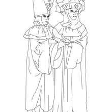 Dibujo para colorear pareja disfrazada para colorear carnavla de venecia - Dibujos para Colorear y Pintar - Dibujos para colorear FIESTAS - Dibujos para colorear CARNAVAL - Dibujos CARNAVAL VENECIA para colorear