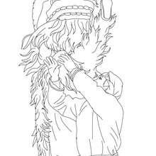 Dibujo para colorear : Danza del León