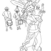 Dibujo para colorear desfile carnaval de Rio - Dibujos para Colorear y Pintar - Dibujos para colorear FIESTAS - Dibujos para colorear CARNAVAL - Dibujos para colorear CARNAVAL DE RIO